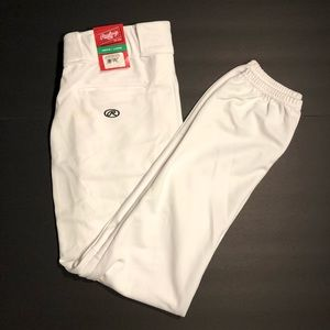 Rawlings Baseball Pants White NWT Mens Size Large